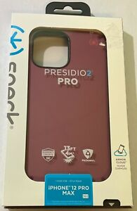 Speck Presidio 2 PRO Soft Touch Slim Rugged Case for iPhone 12 Pro Max Burgundy