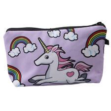 Unicorn Bag Girls Cosmetic Case Makeup Pouch Brush Travel Storage Box Organizer