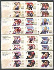 GREAT BRITAIN 2012, OLYMPICS, PARALYMPICS, ALL 34 PAIRS/BLOCKS, MNH