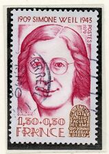 TIMBRE FRANCE OBLITERE N° 2033 SIMONE WEIL / Photo non contractuelle