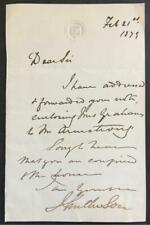Joseph Anderson, Scottish Historian, Antiquary, ALS, SIGNED letter, 1879