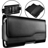 Reiko Premium Leather Case Loop Belt Clip Holster Pouch For Samsung Galaxy S10E