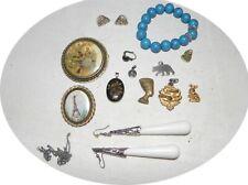 lot bijou vintage boucle broche medaille dieu bracelet récent pharaon