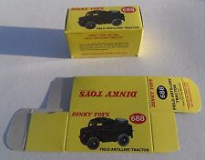 High Quality Reproduction Dinky Military Boxes - 688 Field Artillery Tractor