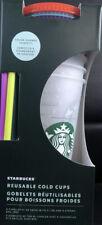 Starbucks 2021 Color Change Confetti Reusable Cold Cups 24 oz 5/pk 🟢BRAND NEW🟢