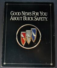 1991 Buick Safety Brochure Folder Regal Electra LeSabre Riviera Nice Original 91