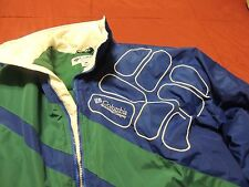 Columbia Blue Green Insulated Lined Ski Jacket Coat Adult Large Near Mint Nice