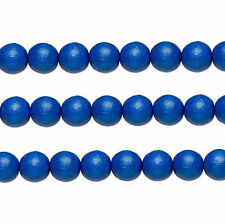 Wood Round Beads Dark Blue 8mm 16 Inch Strand