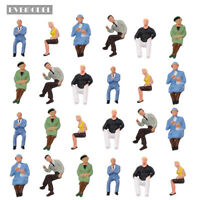 24 pcs O scale Seated Figures 1:50 Painted Sitting People Model Railway P4802