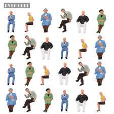 P4802 24 pcs All Seated Figures O scale 1:43 Painted People Model Railway NEW