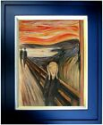 Framed Edvard Munch's the Scream Repro, Quality Hand Painted Oil Painting12x16in