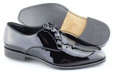 Men's SALVATORE FERRAGAMO 'Charles' Black Patent Leather Oxfords Size US 10.5 2E