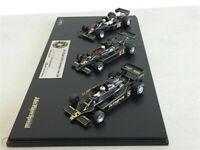 TSM 3 car set JPS Lotus F1 Mario Andretti SIGNED race cars Type 77, 78, 79 1/43