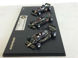 TSM 3 car set JPS Lotus F1 Mario Andretti SIGNED race cars Type 77, 78, 79 1/43