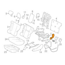 TOYOTA Genuine 71691-0R030-C0 Seat Cushion Hinge Cover