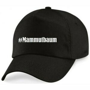 Basecap #Mammutbaum Hashtag Raute für Damen Herren und Kinder