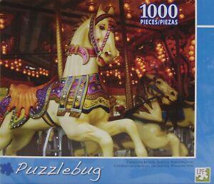 CAROUSEL HORSE, SEATTLE, WASHINGTON, #1205 PUZZLEBUG 1000 piece Jigsaw Puzzle