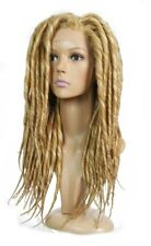 Golden Blonde Long Thick Dreadlock Lace Front Wig | Unisex Adjustable Wefted Cap