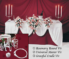 3 Bridal Bouquet Holder H Wedding Flowers Table Display Clamp Centerpieces 3VITS
