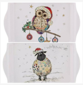 Bug Art Kooks Christmas Snack Tray Christmas Sheep Christmas Owl Sandwich Trays