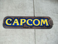 "original CAPCOM STICKER CPS2  13- 3 1/2"" sign marquee cF89"