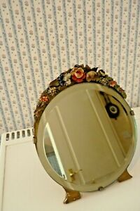 PRETTY ART DECO BARBOLA EASEL STYLE MIRROR - BEVELLED GLASS