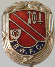 BOLTON WANDERERS FC Rare vintage club crest type badge Stick pin 14mm x 18mm