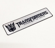 Car White Transformers Decepticon Metal Motorcycle Badge Emblem Sticker