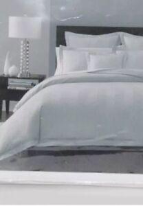 Hudson Park Collection Full Queen Duvet / Comforter Cover 600 TC Stripe White