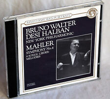 Bruno Walter/Desi Halban-MAHLER SYMPHONY NO. 4/8 canzoni canzoni * * Melodies