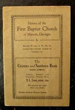 1919 BOOKLET-HISTORY OF THE FIRST BAPTIST CHURCH, MACON, GA.