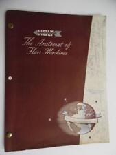 1951 HOLT MFG CO Floor Machine Tool Catalog Binder Sanders Polishers Vintage BIG