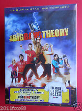 box set 3 dvd + t-shirt serie tv the big bang theory season 5 quinta stagione tv