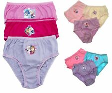 GIRLS 3 PAIR PACK MINNIE MOUSE BRIEF KNICKERS PINK RED COTTON 6-8 YEARS PANTS