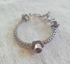 HEAVY STERLING SILVER BYZANTINE BRACELET .. FULL UK HALLMARK .. 54g