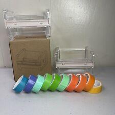Molshine 2 Pack Transparent Desktop Multi Masking Tape Dispenser Bundle With Tape