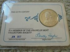Franklin Mint Collectors Society Card 1976 Member Card And Coin Pre-Owned