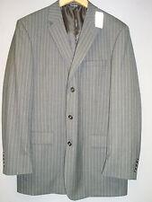 Jos A Bank NWT Mens Gray Pinstripe Wool Classic Collection 3 Button Blazer 44 XL