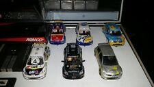 Lot of 5 slot cars NINCO Rallye Renault and Fiat race tuned
