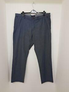 Tommy Hilfiger Men's Custom Fit Coupe Sur Mesure Trousers Chinos  Blue W40 L31