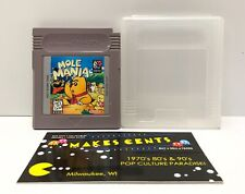 Mole Mania (Nintendo Game Boy, 1997) Original Authentic w/ Clear Case HTF Game
