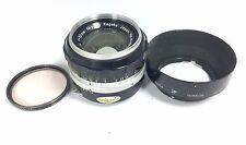 Nikon 50mm F1.4 Nikkor-S Auto Prime Standard Lens non-AI+Nikon F Hood/Filter