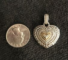Judith Ripka Largest Heart Enhancer In Sterling Silver W/18k Gold And Diamonds