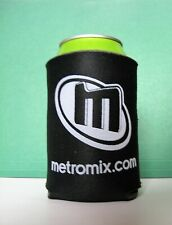 Metromix.com Can Koozie Coolie Insulator - Black