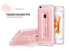 Transparent Clear Finger Ring Holder TPU Cover Case Skin For Apple iPhone 5 5S