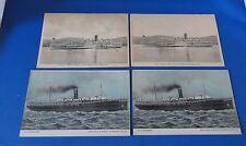4 Postcards: - Steamer Boats - Robert Fulton & S. S. Suwanee