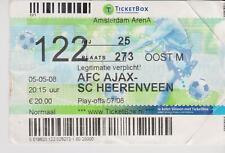 Sammler Used Ticket / Entrada Ajax Amsterdam v SC Heerenveen 05-05-2008