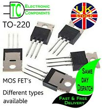 TO-220 MOS FET Transistors (Many types available) **UK SELLER** Free P&P