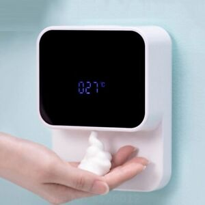 Automatic Induction Foaming Soap Dispenser LED Display Screen For Bathroom Wall