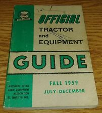 Fall 1959 Nrfea Official Tractor and Equipment Guide